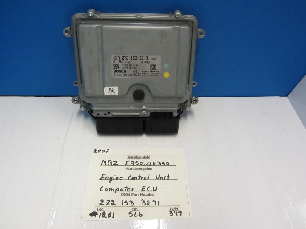Mercedes benz engine control unit computer ecu 2721533291 for Mercedes benz engine number check
