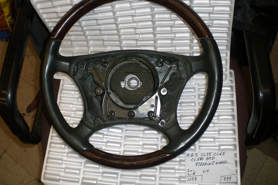 Mercedes benz steering wheel 215 used auto parts for Steering wheel lock mercedes benz
