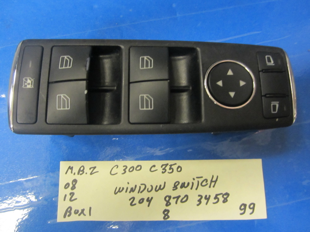 Mercedes benz c300 window switch 204 870 3458 used for Mercedes benz window switch